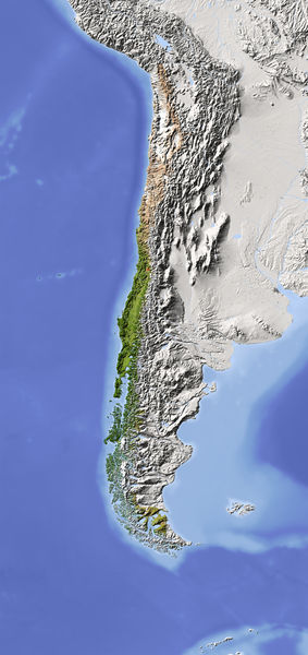 Location Size And Extent Chile Located Problem Average Area - Chile location