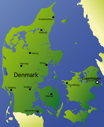 Location size and extent Denmark located area