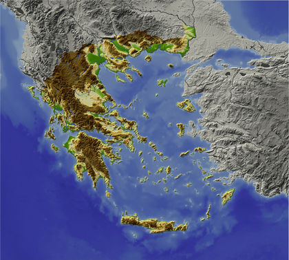 Topography   Greece   average