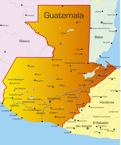 Guatemala Location Size And Extent