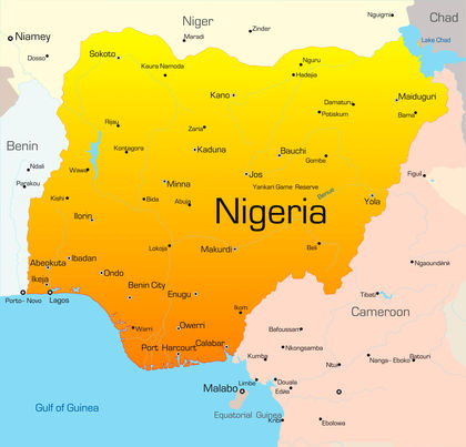 Nigeria Location Size And Extent 1369