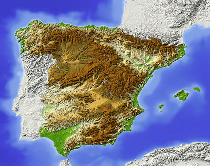 Topography   Spain   average